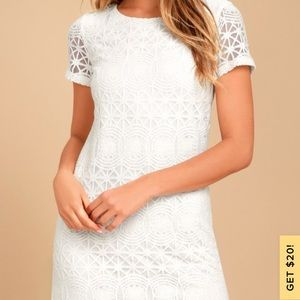 "Lulus ""Love you for Eternity White Lace"""